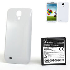 6400mAh New Extended Battery with White Cover For Samsung Galaxy S4 i9500 i9505