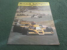 1979 RENAULT AUTOSPORT SUPPLEMENT REPRINT BROCHURE - 5 Gordini Elf Challenge F1