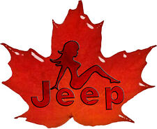Jeep Maple Leaf Sexy Trucker Girl (type 2) Decal/Sticker FREE SHIPPING!!