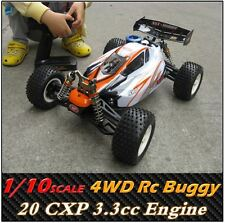 Nitro gas Monster Rc Buggy Car 1/10 Scale 4WD 2.4G Off-road 18/20CXP motor  HQ