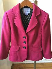 Kay Unger New York Violet Pink Office/Work/ Party Blazer Sz 4 EUC!