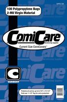 COMICCARE 100 CURRENT SIZE COMIC BOOK BAGS & BOARDS PP