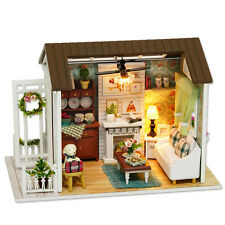 Kits Wood Dollhouse Miniature DIY House Handicraft Toy Idea Gift Happy times