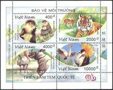 Vietnam 1996 Tiger/Rhino/Monkey/Crane/Animals/Birds/Wildlife/Nature  m/s (s1321)