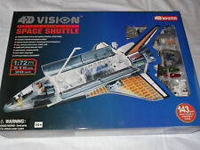 "4D MASTER<>4DVISION<>CUTAWAY MODEL<> ""SPACE SHUTTLE"" <>143PC<>1/72 SCALE<>MISB"