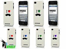 CUSTODIA CASE COVER FOR IPHONE 5 LOVE MOUSTACHE BAFFI RIGID SLIM TPU