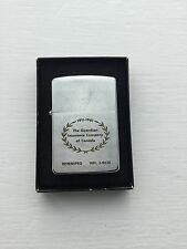 Vintage 1950 Zippo Lighter Advertising The Guardian Insurance Com. Of Canada