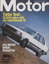 Motor magazine 24/7/1982 featuring Colt Hatchback Turbo road test, Renault