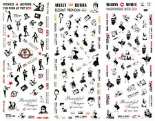 Hot New Style Variety Kinds Of DIY Fashion Nail Sticker Audrey Hepburn