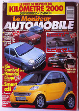 Le moniteur Automobile 3/2/2000; Kia Carnival/ Hyundai Coupé/ Smart CDi/ 206 Gti