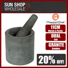 100% Genuine! MASTERCHEF Dual End Granite Mortar & Pestle 11cm Gray! RRP $57.95!