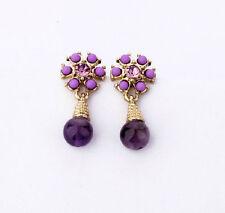New Unique Beautiful Betsey Johnson purple earrings N220