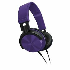 Philips SHL3000PP/00 DJ Style Headband Headphones In Purple Powerful Bass NEW