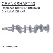 CRANKSHAFT53 David Brown Tractor Parts Crankshaft DB 4/47 990A, 990B