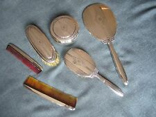 Wallace Sterling Silver 7 piece Vanity Dresser Set with mirror, hairbrush etc
