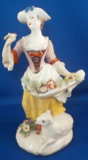 Rare 18thC Early Bow Porcelain Lady Figurine Figure Porzellan Figur English