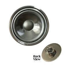 Speaker Cone Design Metal Pin Badge DJ boombox music bass amp Brand New