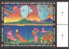 UN (G) 1992 Earth Summit/Environment/Boats/Mountains/Rainbow 4v blk (n39461)