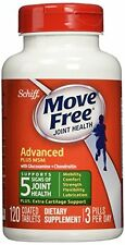 5 Pack SCHIFF - Move Free Advanced Plus 1500 mg MSM - 120 Tablets Each