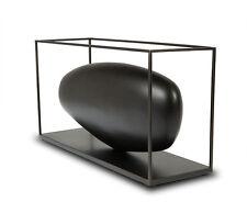 """Moderne abstrait Plastique Sculpture """"En bois Pierre solide"""" im Cage métallique"""