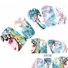Tattoo Nail Art Geisha Aufkleber Anime Japan Manga Water Decall Neu!