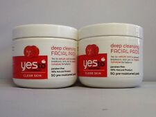 2 x Yes to Tomatoes Clear Skin Deep Cleansing Facial 50 Pre-moistened Pads