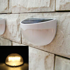 6-LED Solar Powered Garden Security Light Outdoor Fence Wall Lamp Waterproof