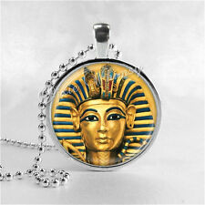King Tut Necklace Pendant Art Jewelry Egypt Egyptian Jewelry Handmade Glass Art