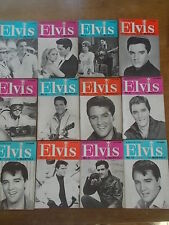 Vintage 1965 Complete Set of 12 ELVIS PRESLEY Monthly Magazines Fifth Series