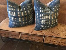 Uber Chic Home Imported Indigo Batik Down Pillows - $175.00/each (Reg $350/each)