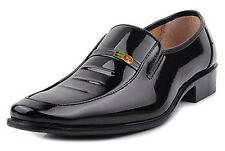 Men's Business Oxford Leather Shoes Slip On US10 Black Chic Dress/Casual Loafers