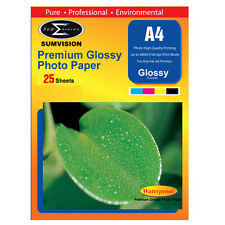 SUMVISION GLOSS COATED A4 INKJET PRINTER PHOTO PAPER 135GSM 25 SHEETS 5760DPI