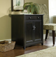Sauder Furniture 408696 Edge Water Living Room Home Display Black Utility Stand