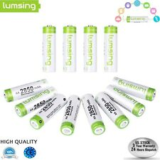 12 X AA Battery Rechargeable High Capacity 1.2V 2850mAh Ni-MH with Battery Case