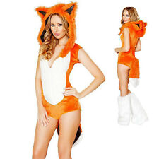 Woman Girls Sexy Fox Costumes Cosplay Facny Dress Party Outfit Halloween Hoodie