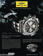 Publicité advertising 2010 Montre Breitling Chronomat B01