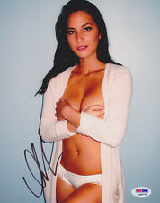 Olivia Munn SIGNED 8x10 Photo Sexy Topless Lingerie PSA/DNA AUTOGRAPHED