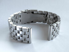 22mm Heavy Solid Brushed Stainless Steel Deep Blue dive Watch Bracelet +FAT PINS