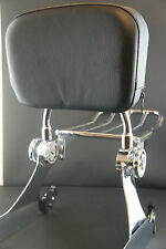 Detachable Backrest Sissy Bar Luggage Rack Harley Davidson Dyna 02-05 WISDOM