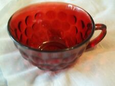 Vintage ANCHOR HOCKING Royal Ruby Red Bubble Glass Cup