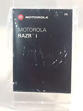 Brand new original Motorola Razor i français téléphone manuel guide