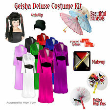 Satin Geisha Plus Size Halloween Costume Accessory Kit 1x 2x 3x 4x 5x 6x 8x