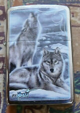 ANIMALS MAZZI WINTER WOLVES ZIPPO LIGHTER FREE P&P FREE FLINTS