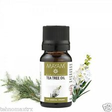 TEA TREE ESSENTIAL OIL 10 ml - 100% ORGANIC - acne, boils, rashes, herpes, warts