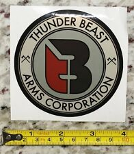 Thunder Beast Arm Corporation Sticker Red Tactical Gear Decal Stocks Guns Rifle
