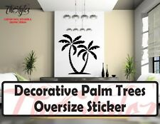 Decorative Palm Trees Oversize Wall Vinyl Sticker