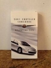 2001 Chrysler Concorde VHS Operating Tips Manual