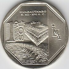 "Peru 1 Nuevo Sol 2015 ""Wealth and Pride of Peru"" Huarautambo Unc"