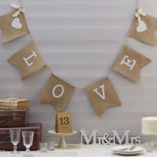 LOVE Hessian Bunting rustic boho Wedding Anniversary decor