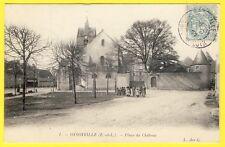 cpa 28 - VILLAGE d' OYSONVILLE ( Eure et Loir) Place du CHÂTEAU Animée